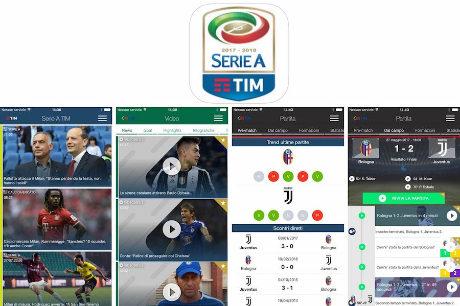 App Serie A TIM per iPhone, iPad e iPod [iOS]