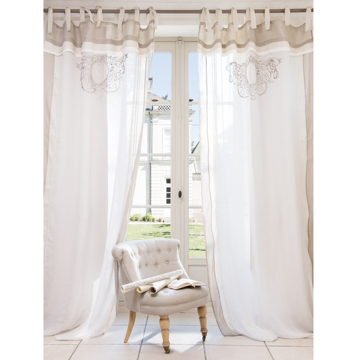 Arredamento i love shabby chic sapore shabby chic tende for Tende country chic
