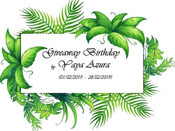 BIRTHDAY GIVEAWAY BY YAYAAZURA.COM