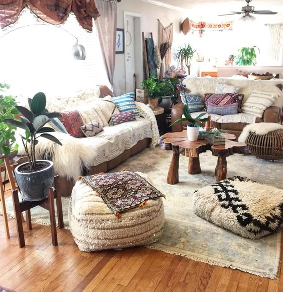The Base In Bohemian Style Is To Mix And Match Lots Of Patterns Colors Materials Then Make Harmony Between All