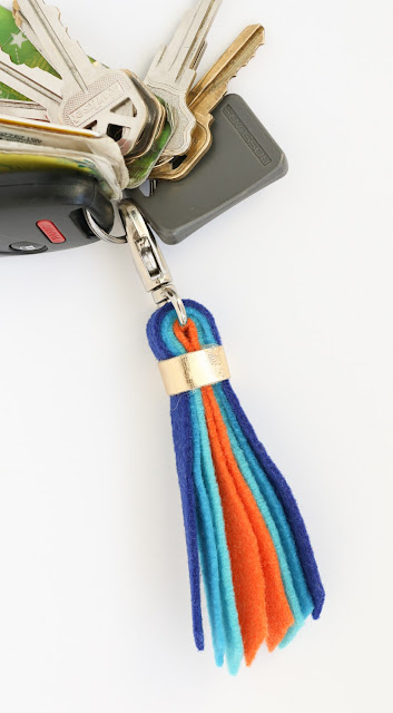 Easy DIY Felt Tassel Key and Purse Fobs