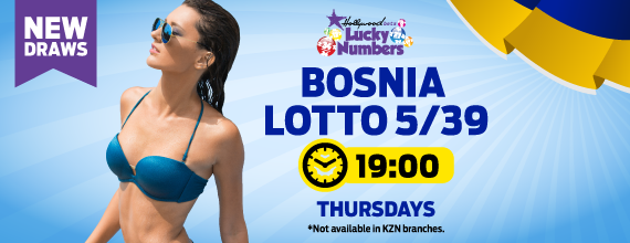 Bosnia Loto 5/39 - Lucky Numbers  - Hollywoodbets - Results - Odds - Betting
