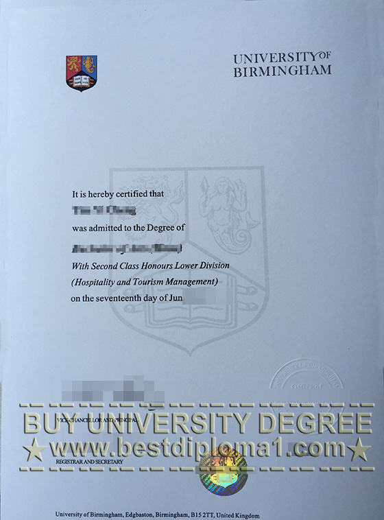 Buy UoB diploma, fake UoB degree