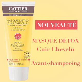 50 Masques Détox Cuir Chevelu Avant-Shampooing de Cattier.