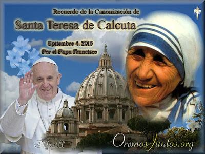 Resultado de imagen para Santa Teresa de Calcuta