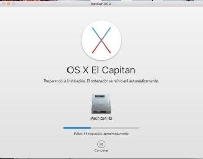 Instalación Mac OS X El Capitan