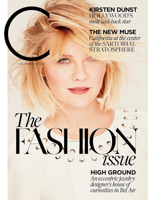 Actress, Singer, Model, @ Kirsten Dunst - California Style US, March 2016