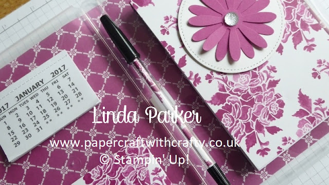 Magnetic Notebook,  Clear Stamp Case Cover,  Linda Parker