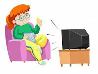 Soal UAS Bahasa Indonesia Kelas 1 Semester 1 gambar 4 menonton TV