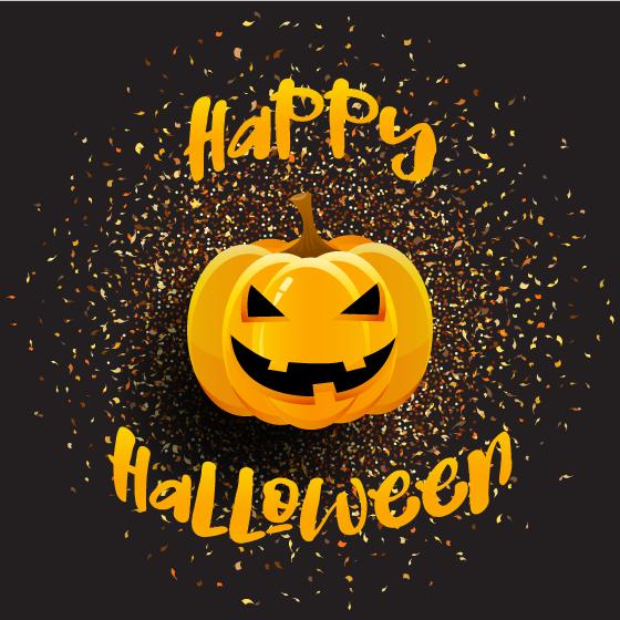 Brillante Calabaza de Halloween