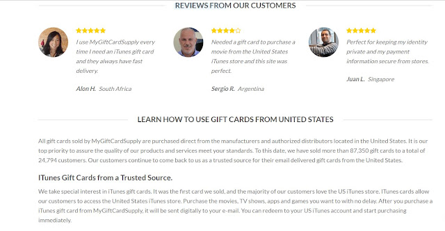 MyGiftCardSupply US iTunes Cards !! EMAIL DELIVERY !! Great