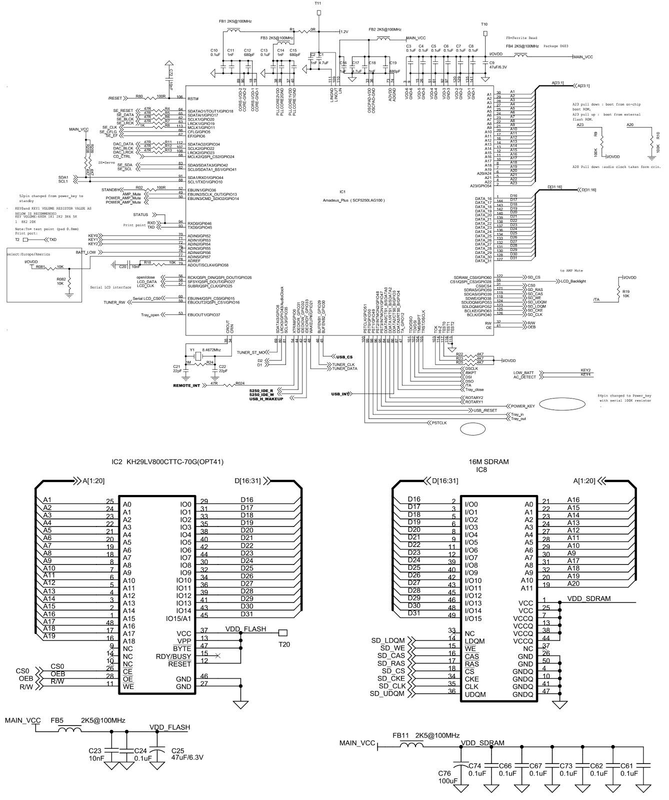Schematic Diagrams: PHILIPS AZ3830/55 MP3 CD Soundmachine ...