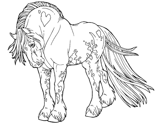 Drafting Off Colors Hors Colors Pages Horses Horse Coloring Pages