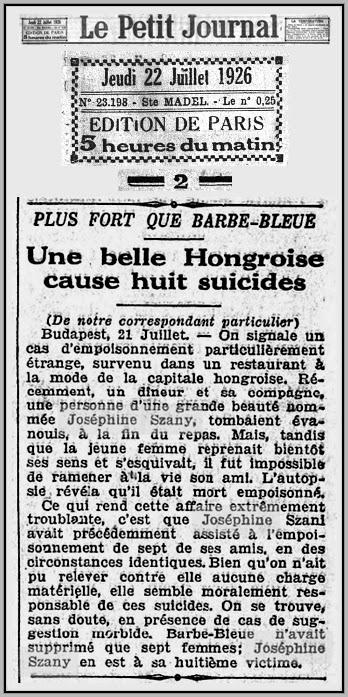 The unknown history of misandry josefa szanyi hungarian misandric predator serial killer 1926 - Que ramener de budapest ...