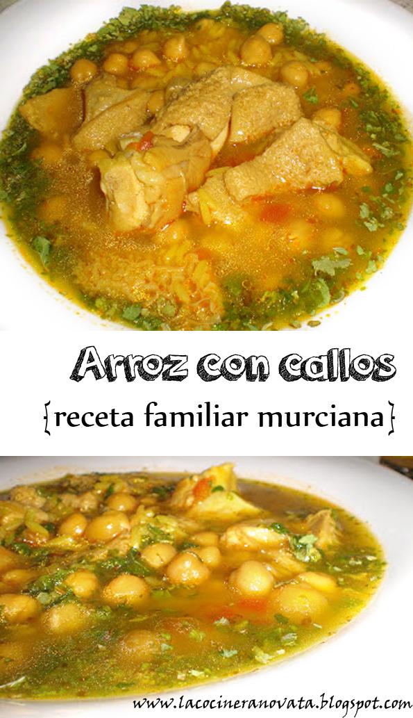 arroz con callos receta familiar murciana la cocinera novata cocina guiso legumbres garbanzos pobres economica barata casqueria