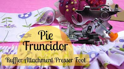 pie de máquina casera para hacer arruchados frunces pliegues - Ruffler presser foot