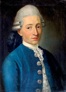 Pintura retrato de Wolfgang Amadeus Mozart fechado en 1772