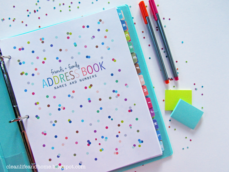 Printable Address Book Cover : Clean life and home new printable address book with tabs