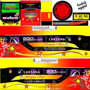 Livery Bussid Sempati Star SDD SR2 Prime
