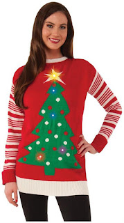 Christmas Tree Light-Up Adult Ugly Christmas Sweater