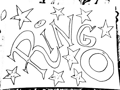 Ringo Beatles Coloring Book Free Art Have Fun Black and White Lettering Felt Pen by Greg Vanderlaan