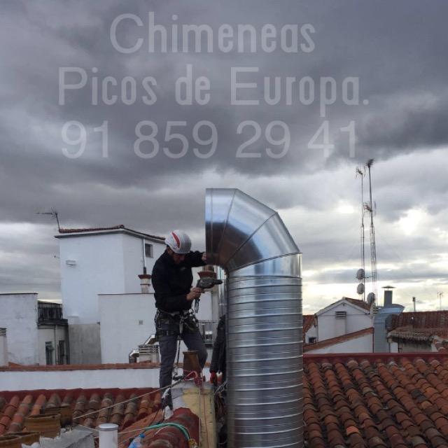 Chimeneas picos de europa instalaci n salida de humos en - Chimeneas picos de europa ...