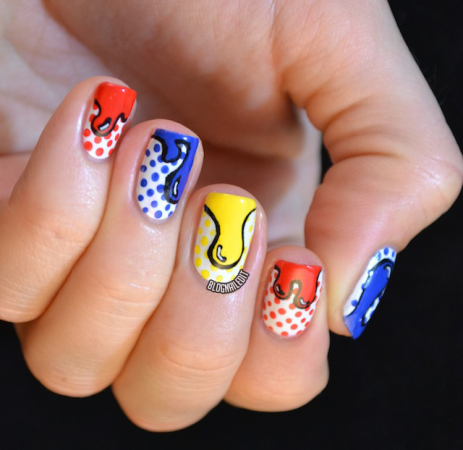 Unhas decoradas Pop Art