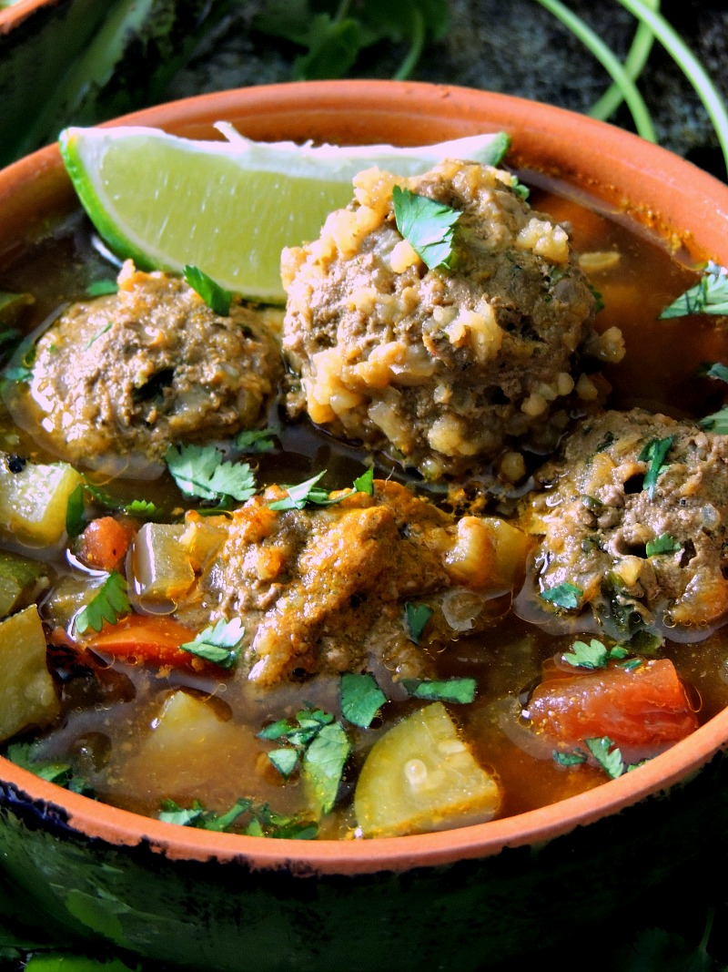 Albondigas (Mexican Meatball) Soup from www.bobbiskozykitchen