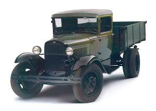 ГАЗ - полуторка - производился с 1932 до конца 40-х. Грузоподъёмность 1,5 т.