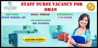 Staff Nurse Vacancy for Oman