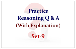 Practice Reasoning Questions (with explanation) for Upcoming Bank PO and Clerk Exams 2015 Set-9