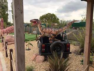 Jurassic Cove Adventure Golf course at Bents Garden and Home in Glazebury. Photo by Matthew Blakeley, 28th April 2017