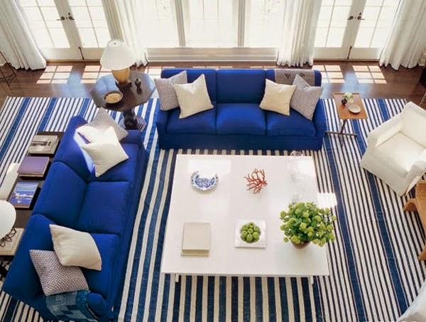 sala con sillones azules