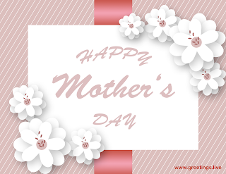 Happy Mother's Day flowers greetings card image