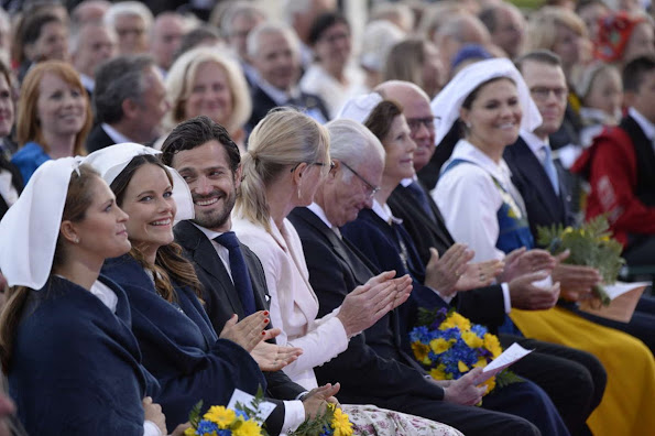 King Carl Gustaf and Queen Silvia, Crown Princess Victoria, Prince Daniel and Princess Estelle, Princess Madeleine, Prince Carl Philip and Princess Sofia Hellqvist   attends the Swedish National Day Celebrations 2016