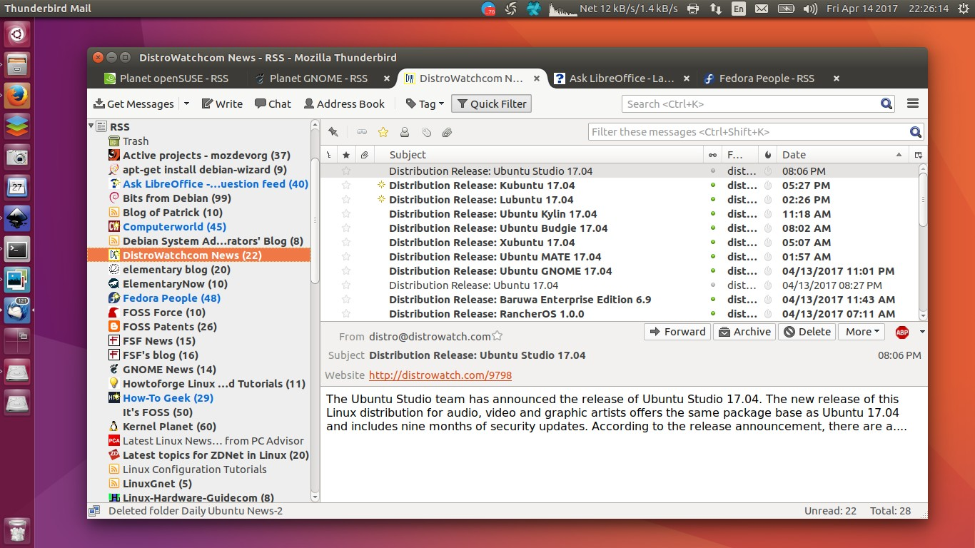 How To Import OPML of RSS Feeds in Thunderbird