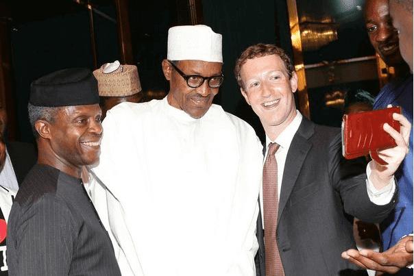 mark zuckerberg selfies with President Muhammadu Buhari and Vice President, Yemi Osinbajo.