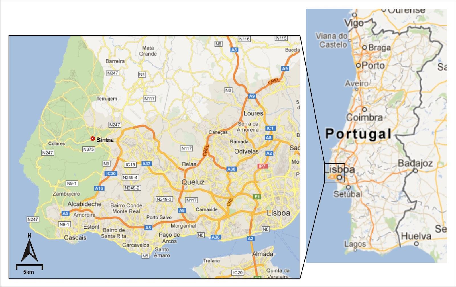 sintra no mapa de portugal Manuscritos de um viajante!: Sintra   Portugal. sintra no mapa de portugal