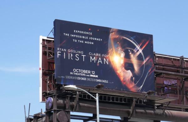 First Man movie billboard