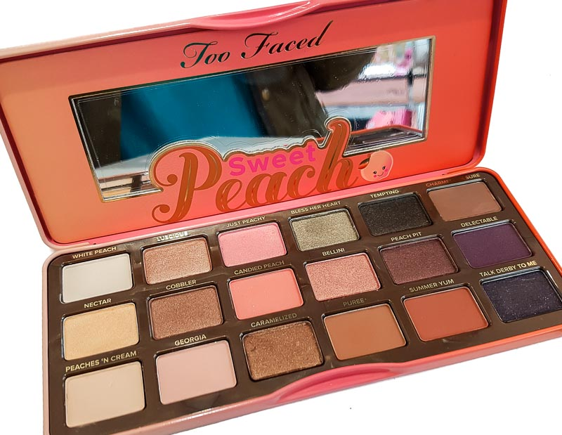 Too Faced Sweet Peach Eyeshadow Palette - Swatches