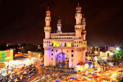 Charminar in Hyderabad District in Telangana