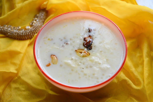 Sago Kheer | Javarisi Payasam | Tamil New Year Recipe