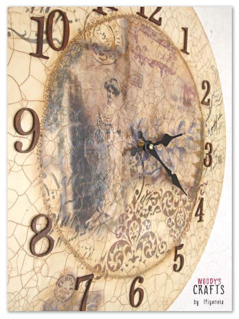 ξυλινα χειροποιητα διακοσμητικα,ξυλινα ρολογια τοιχου,χειροποιητα ρολογια τοιχου,ρολοι τοιχου με ντεκουπαζ,χειροποιητο ρολοι τοιχου σε vintage στυλ,ρολοι τοιχου με τεχνικη κρακελε,διακοσμητικα τοιχου χειροποιητα