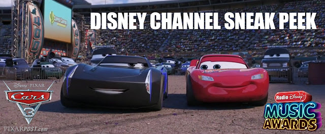 Jackson Storm and Lightning McQueen talking in Cars 3