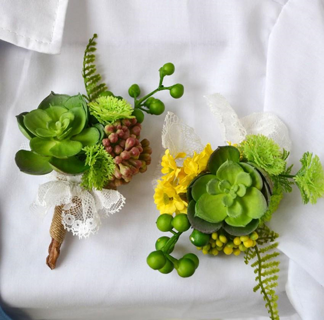 artificial succulents plants corsages