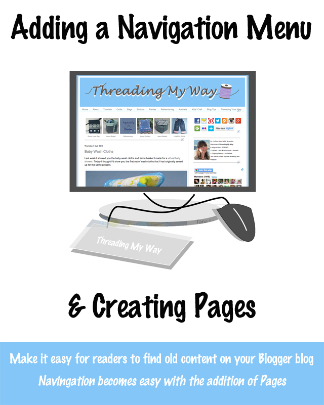 Adding a navigation menu and static pages on a Blogger blog. Make it easy for readers to find old content ~ Threading My Way