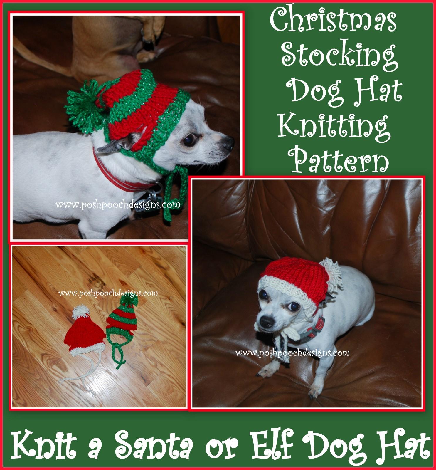 Posh Pooch Designs Dog Clothes Christmas Stocking Dog Hat Knitting