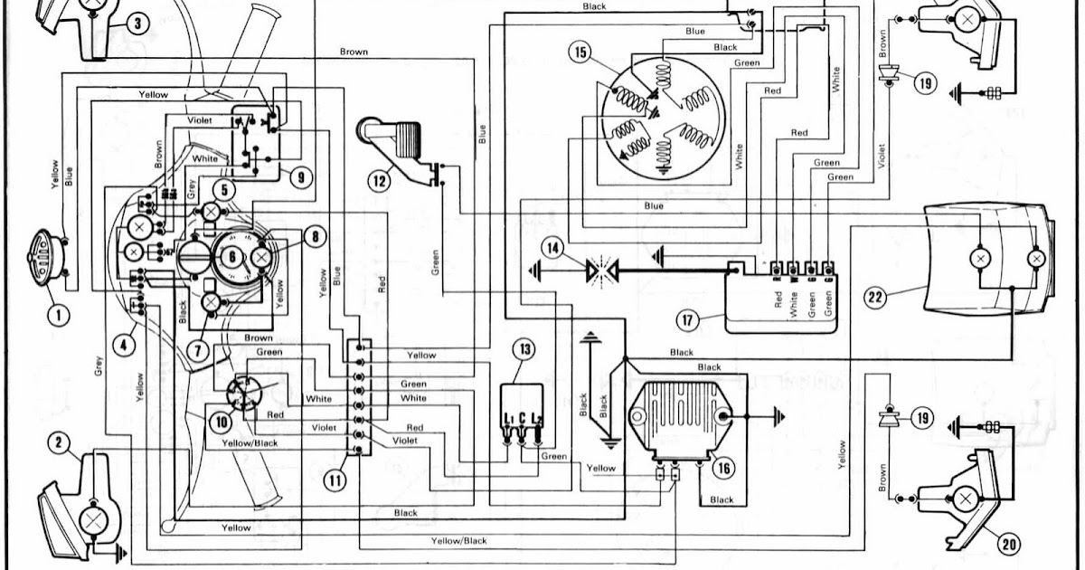 Proa: Vespa P200 E Model Wiring Diagram
