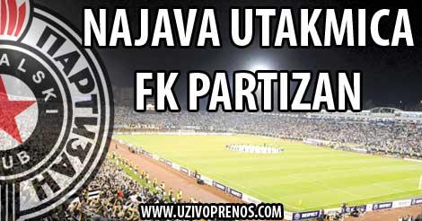 Najava utakmica Partizana