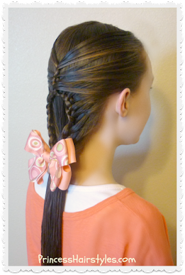 Cute hairstyle, the teardrop mermaid braid tutorial